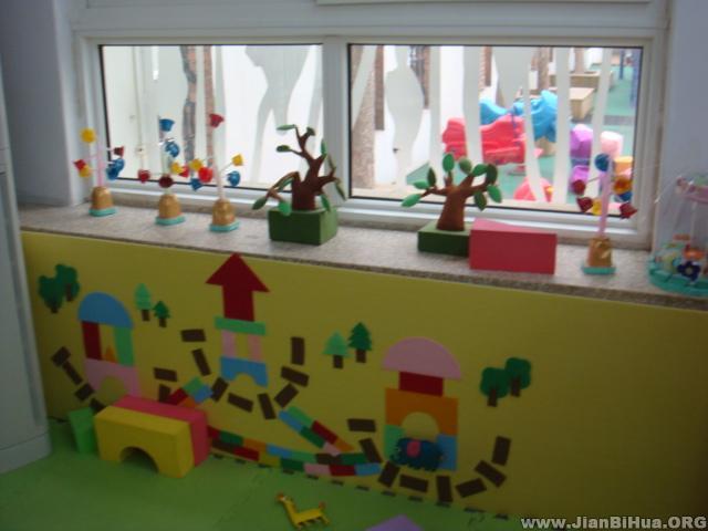 幼儿园大班墙面布置图片:建筑区布置