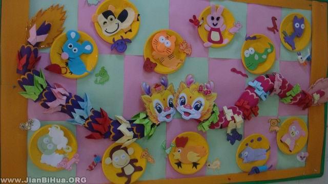 幼儿园墙面设计图片:十二生肖