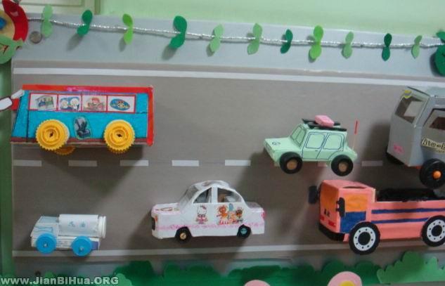 幼儿园中班墙面布置图片:各种车辆