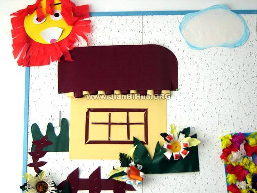 幼儿园春季主题墙布置:立体墙饰