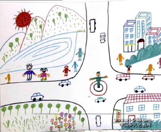 我的家乡儿童画