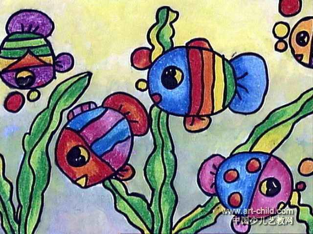 儿童画属于水彩画,长480px,宽640px,作者许松根,男,4岁,就读泉州市