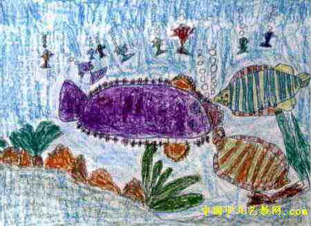 海底世界儿童画属于油画棒画