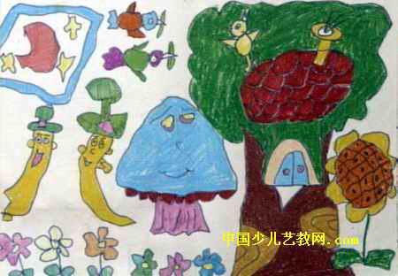 美丽的早晨儿童画2幅