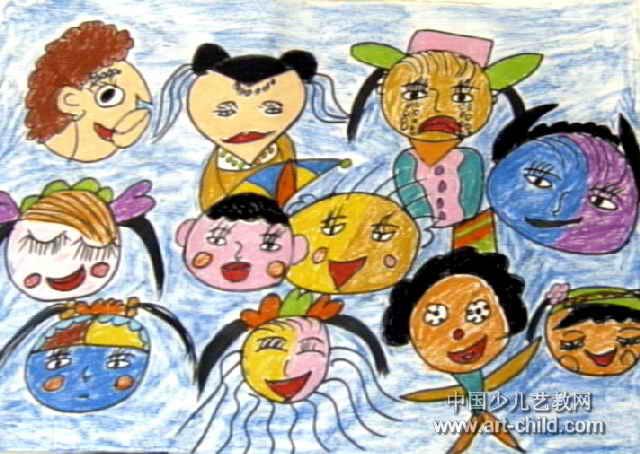 瞧!我们的图片儿童画表情表情包一个喵图片