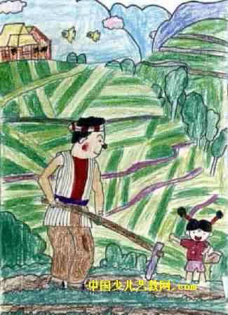 爸爸的画儿童画