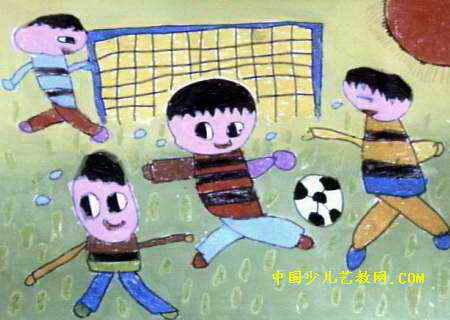 踢足球简笔画儿童画【相关词_ 儿童踢足球简笔画】