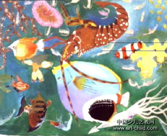 美丽的海底世界儿童画3幅