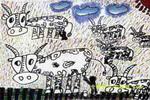 草平里的牛儿童画
