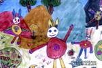 小兔家的舞会儿童画作品欣赏