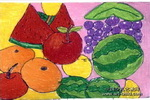 我爱吃的水果儿童画3幅