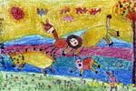 秋天的运动会儿童画