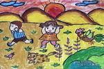 捉迷藏儿童画(二)8幅