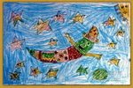 美丽的天空儿童画4幅
