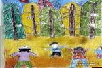 森林之歌油画棒儿童画