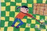 我在拖地儿童画作品欣赏