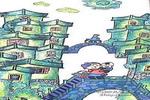 姥姥和桥儿童画