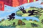 春来了儿童画8幅