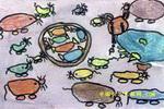 爱吃糖的猫儿童画