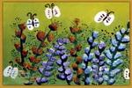 花儿朵朵儿童画4幅