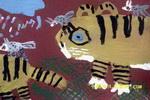 两只老虎儿童画2幅