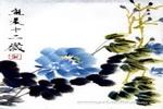 蓝牡丹儿童画作品欣赏