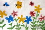 蝴蝶找花儿童水墨画
