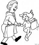 帮助和扶老人过马路简笔画