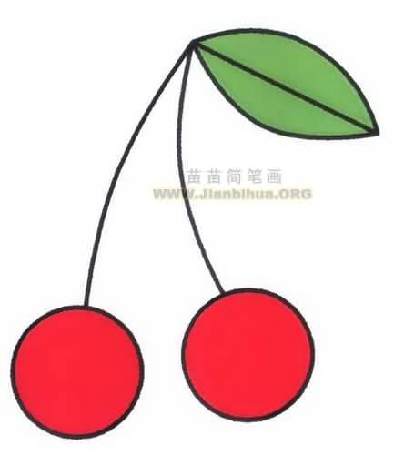 樱桃简笔画图片教程