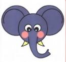 大象头像简笔画教程
