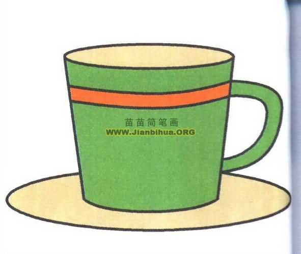 咖啡杯简笔画图片教程图片