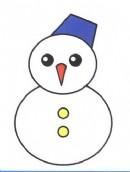 雪人简笔画图片教程