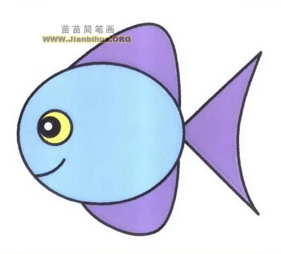 胖头鱼简笔画图片教程