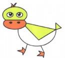 图形组成的鸭子简笔画图片教程