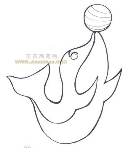 海豚简笔画图片