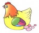 母鸡生蛋简笔画图片3张