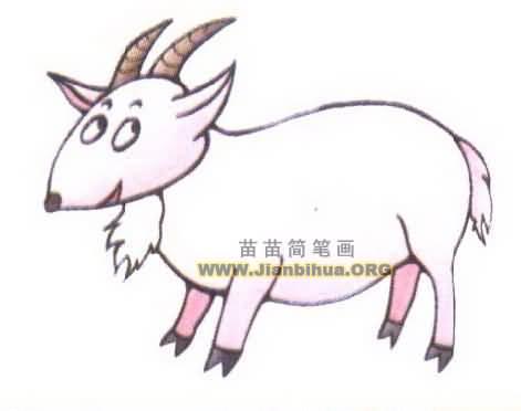 山羊简笔画图片