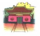 寺庙简笔画图片大全