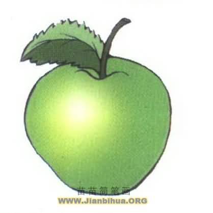 苹果简笔画图片大全