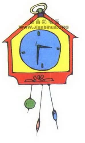 时钟简笔画图片