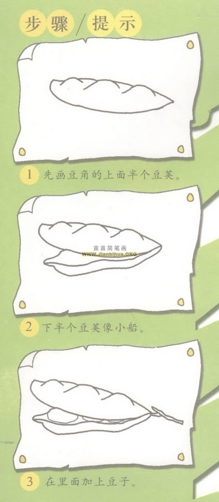 豆角简笔画图片