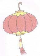 灯笼简笔画图片教程