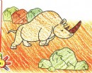 双角犀牛简笔画图片教程
