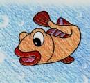 黄鱼简笔画图片教程