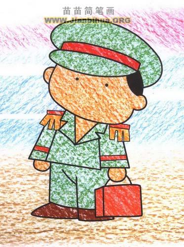 乘务员简笔画图片