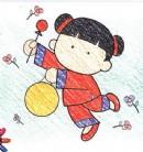古装中国女孩简笔画图片教程