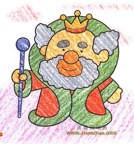 国王简笔画图片