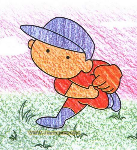 棒球投手简笔画图片