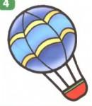 热气球简笔画图片、资料