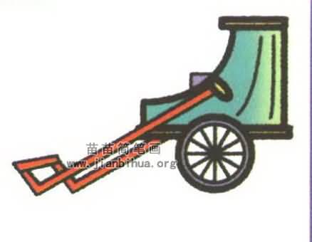 人力车简笔画图片大全(3个教程)